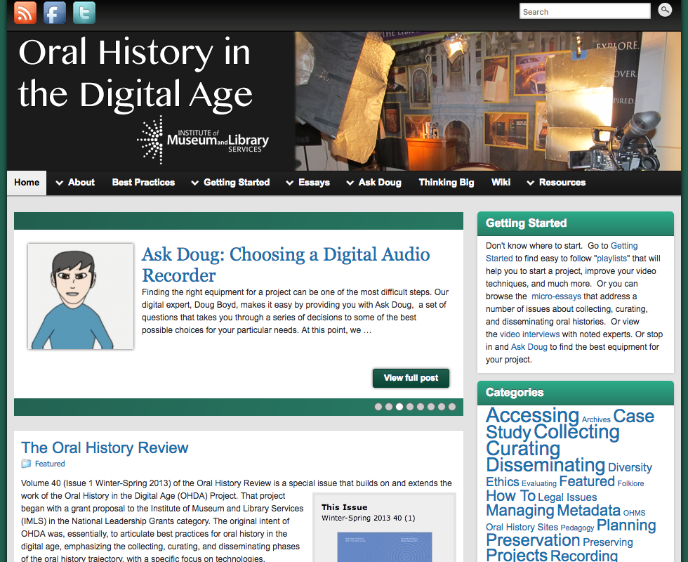 Oral history in the digital age